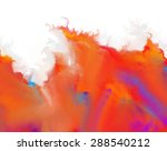 Abstract Painting In Fire...