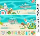 vector illustration of summer... | Shutterstock .eps vector #288545162
