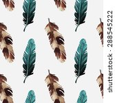 Birds Feathers Watercolor...