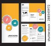 circle brochure design | Shutterstock .eps vector #288545972