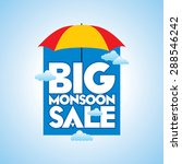 monsoon offer and sale banner ... | Shutterstock .eps vector #288546242
