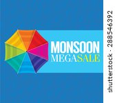 monsoon offer and sale banner ... | Shutterstock .eps vector #288546392