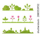 collection set flat icons tree  ... | Shutterstock . vector #288553952