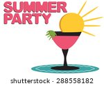 summer party poster with text... | Shutterstock .eps vector #288558182