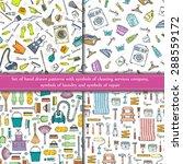 vector set of hand drawn... | Shutterstock .eps vector #288559172
