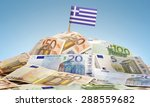 The National Flag Of Greece...