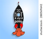 hand drawing rocket with... | Shutterstock .eps vector #288569642