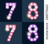 festive pink and purple vector... | Shutterstock .eps vector #288570662