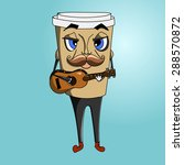 coffee cup to go with ukulele | Shutterstock .eps vector #288570872