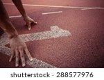 number 1 running track vintage... | Shutterstock . vector #288577976
