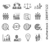 vector icon set business and... | Shutterstock .eps vector #288597122
