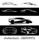 conceptual supercar silhouette... | Shutterstock .eps vector #288599972
