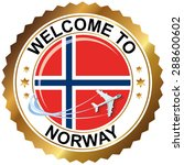welcome to norway | Shutterstock .eps vector #288600602