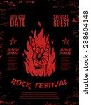 grunge  rock festival poster ... | Shutterstock .eps vector #288604148