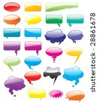 collection of colored vector... | Shutterstock .eps vector #28861678