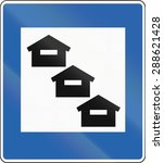 icelandic service road sign  ... | Shutterstock . vector #288621428