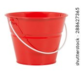 Red Bucket On A White Background