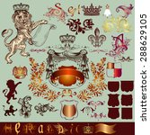 vector set of vintage heraldic... | Shutterstock .eps vector #288629105