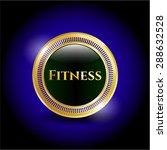 fitness shiny emblem | Shutterstock .eps vector #288632528