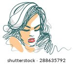 background with a portrait of... | Shutterstock . vector #288635792