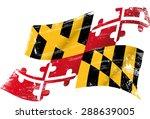 maryland grunge flag. flag of ... | Shutterstock .eps vector #288639005