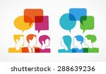 people icons with colorful... | Shutterstock .eps vector #288639236