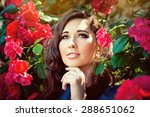portrait of a young beautiful... | Shutterstock . vector #288651062