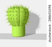 green cactus   Shutterstock .eps vector #288651098