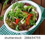 dietary salad with chicken ... | Shutterstock . vector #288654755