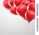 vector holiday illustration of... | Shutterstock .eps vector #288666602
