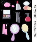 set of cosmetics   vector... | Shutterstock .eps vector #28866745