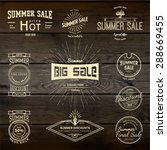 summer sale badges logos and... | Shutterstock .eps vector #288669455