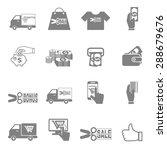 vector icon discounted spending ...   Shutterstock .eps vector #288679676