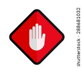 stop  hand  sign icon vectgor... | Shutterstock .eps vector #288681032