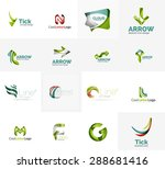 set of new universal company... | Shutterstock . vector #288681416