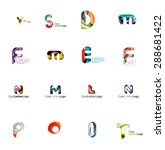 set of new universal company... | Shutterstock . vector #288681422