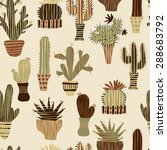 flat seamless pattern with... | Shutterstock .eps vector #288683792