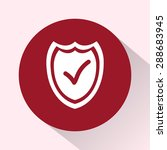 shield sign icons  vector... | Shutterstock .eps vector #288683945