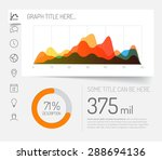 simple infographic dashboard... | Shutterstock .eps vector #288694136