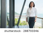 woman architect working in home ... | Shutterstock . vector #288703346