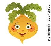 cartoon turnip isolated on... | Shutterstock .eps vector #288715532