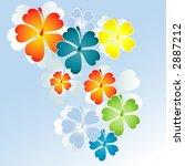 flowers vector   Shutterstock .eps vector #2887212