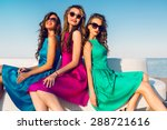 three  pretty  friends in  same ... | Shutterstock . vector #288721616
