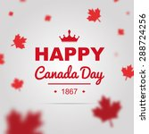 happy canada day poster. 1st of ... | Shutterstock .eps vector #288724256