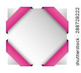 vector corner ribbon pink | Shutterstock .eps vector #288728222