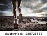 sports background. runner feet... | Shutterstock . vector #288729536
