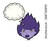 cartoon vampire head with... | Shutterstock . vector #288730895