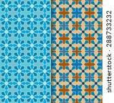 set of seamless oriental... | Shutterstock .eps vector #288733232