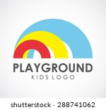 playground kids logo element...   Shutterstock .eps vector #288741062