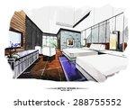 vector interior sketch design.... | Shutterstock .eps vector #288755552